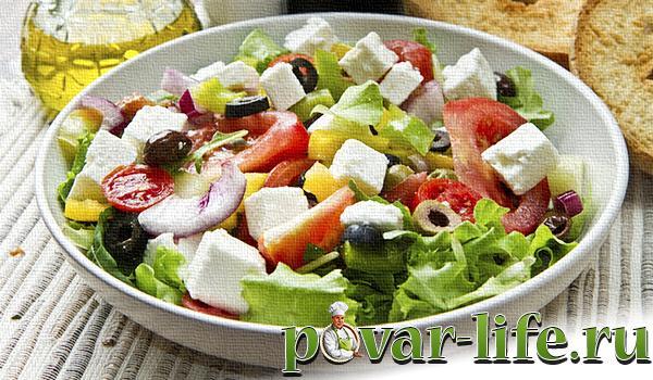 Рецепт Греческого салата с фото пошагово