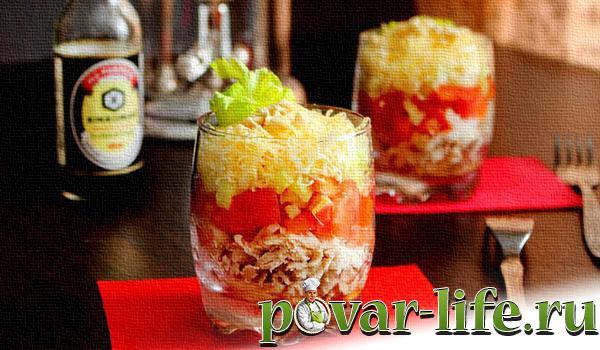 рецепт салата каприз с фото пошагово