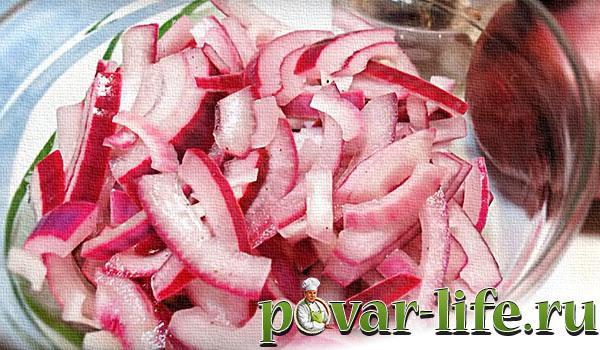 Быстрый рецепт маринованного лука в уксусе