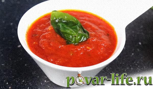 Рецепт соуса из помидоров для пиццы