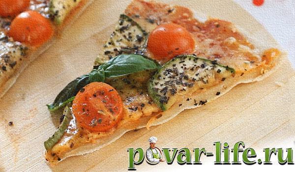 пицца в духовке с курицей и грибами рецепт с фото в духовке #9