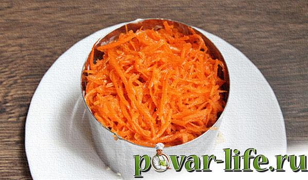 Рецепт салата восторг с корейской морковью