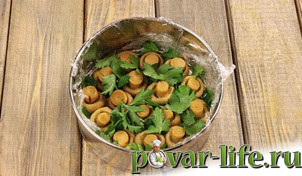Рецепт салата «Грибная поляна»