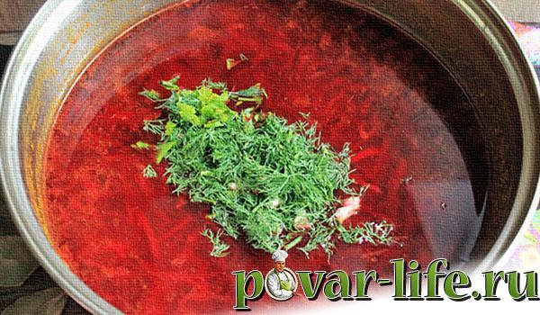 Рецепт борща из квашеной капусты