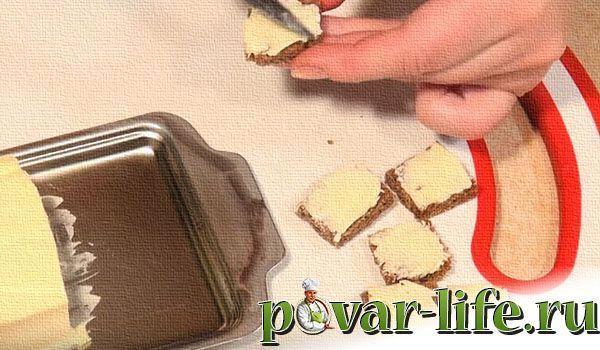 Рецепт канапе с селедкой и черным хлебом