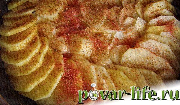 Запеканка из языка с картофелем в духовке