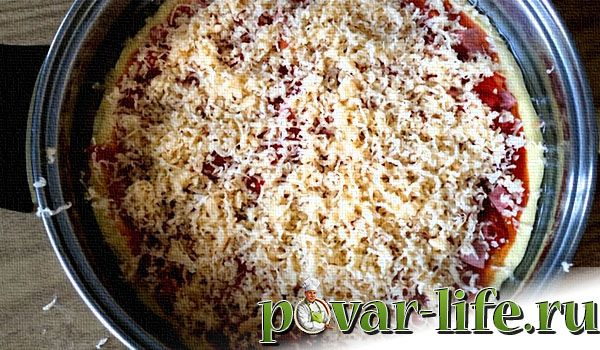 Рецепт пиццы «Минутка» на сковороде