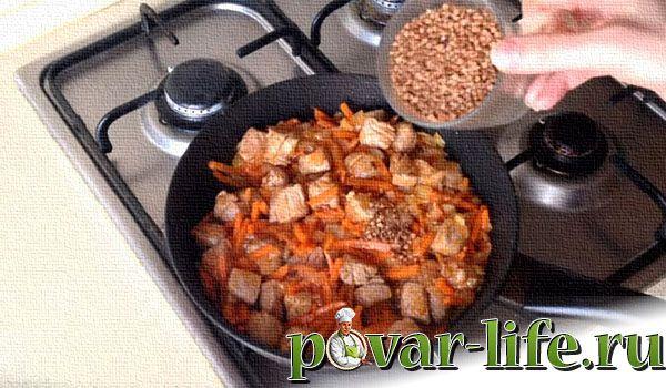Рецепт гречки по-купечески со свининой