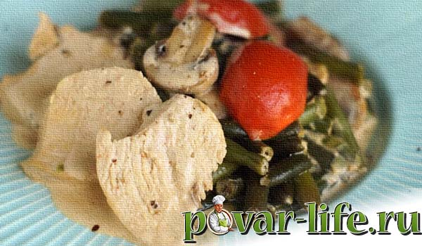 Классический рецепт салата с курицей и грибами
