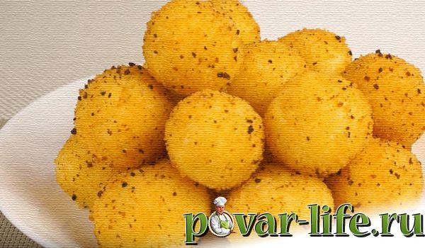 Отличные сырные шарики с чесноком