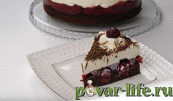 """Рецепт торта с вишней """"Чёрный лес"""""""