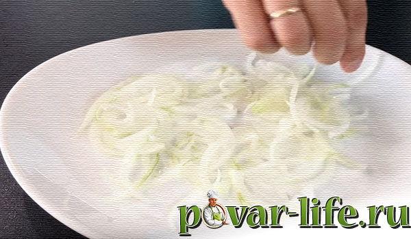 Рецепт французского салата с ветчиной