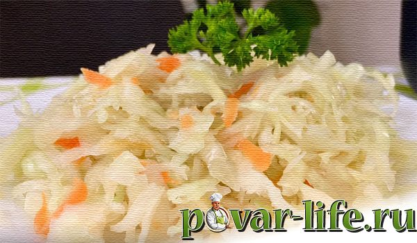 Домашняя квашеная капуста