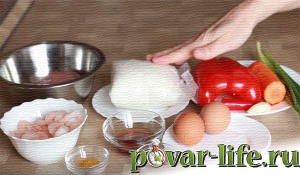 Рис по-тайски с креветками