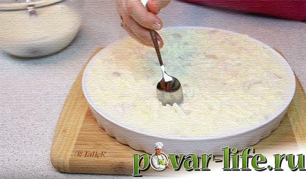 """Рецепт заливного """"Курочка под снегом"""""""