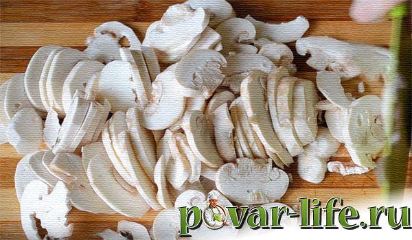 Рецепт сырного супа с грибами