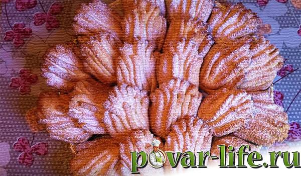 """Песочное печенье """"Хризантема"""" через мясорубку"""