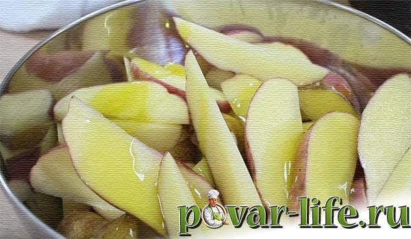 Картошка по деревенски в духовке + соус