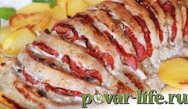 "Мясо ""Гармошка"" с овощами"