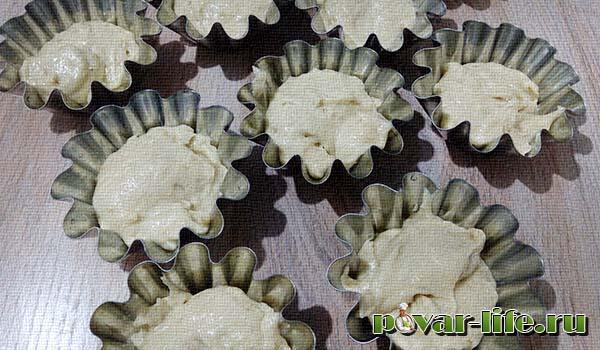 Банановые кексы в силиконовых формах рецепт