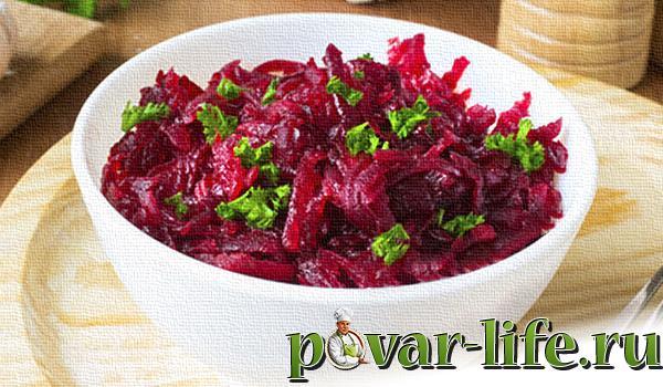 Рецепты диетический салатов из свеклы вареной